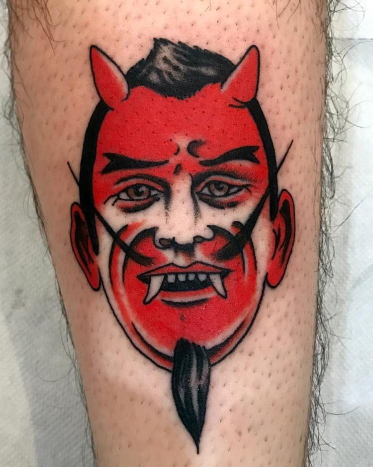 devil tattoo - Traditional tattoo - vintage tattoo - classic tattoo - tatuaggio old school - Bowery Classic Tattoo Legnano