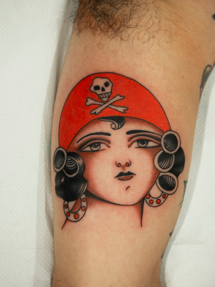 pirata tattoo - Traditional tattoo - vintage tattoo - classic tattoo - tatuaggio old school - Bowery Classic Tattoo Legnano